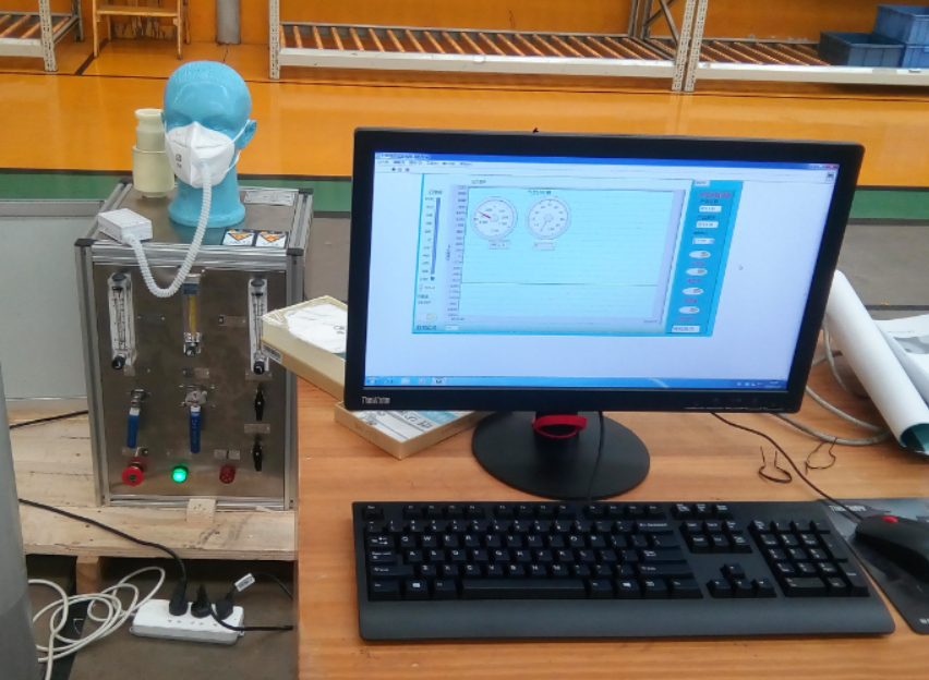口罩吸气阻力、呼吸阻力测试台 防护口罩呼吸阻力检测仪