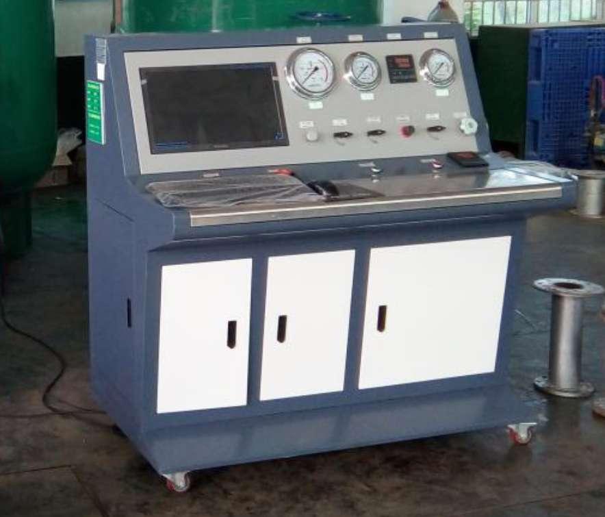 铝制壳体水压检测台-炮弹壳体水压测试台