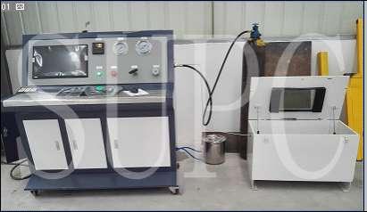 轴承座冷水道水压试验机|冷却水道压力测试台|冷却管水压机