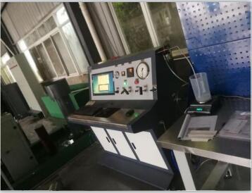 空气呼吸器气瓶外测法水压测试台 空呼气瓶水压试验机(永久膨胀量)
