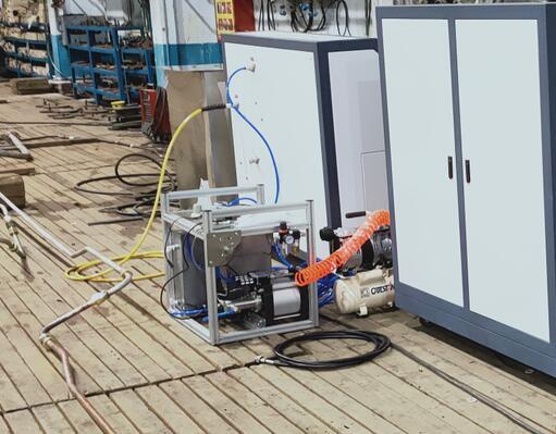 船用管路打水压测试台在渤海某船厂完成运行交付!