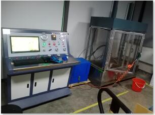 轮船增压器壳体水压测试台/船用增压器压力测试台